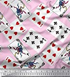 Soimoi Rosa Samt Stoff Indoor-Spiel Poker-Karte Sport Stoff