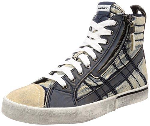 Diesel Herren D-Velows LACE Vintage-Sneaker mid Turnschuh, Midnight Navy (Marineblau), 39 EU