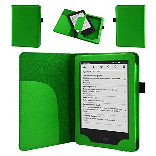 NAUC Tasche für Amazon Kindle Paperwhite 2014 Hülle Cover Case Etui Schutzcover Grün