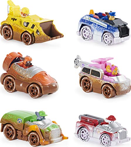 Paw Patrol, True Metal Off-Road Gift Pack of 6 Collectible Die-Cast Vehicles, 1:55 Scale