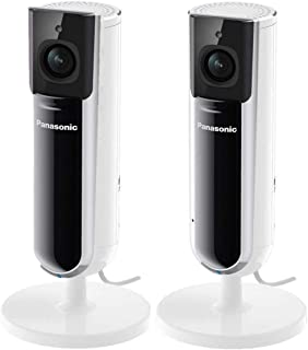 HomeHawk by Panasonic Indoor Full HD 1080p Home Monitoring Camera 2 Pack (Renewed)