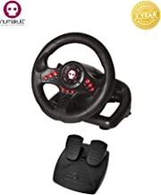 PS4 Steering Wheel & Pedal, gaming steering wheel also compatible with (Xbox One, PS3 and PC)