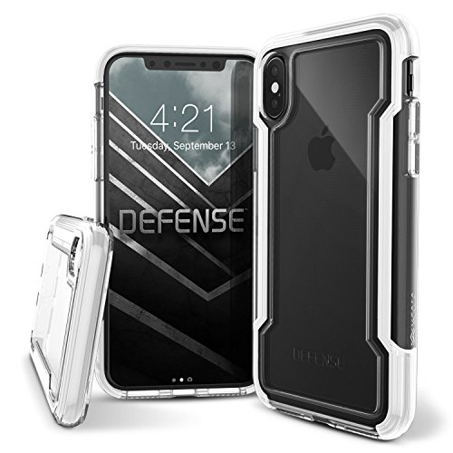 X-Doria iPhone X Case, Defense Clear - Military Grade Drop Protection, Clear Protective Case for iPhone X (White)