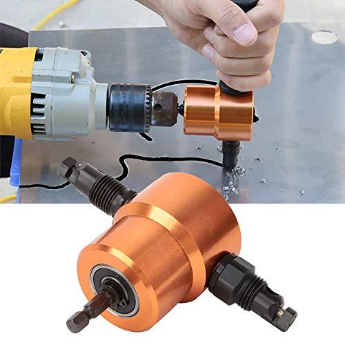 Lowest Price! Jarchii Metal Sheet Cutter, 360°Double Head Sheet Metal Cutter Versatile Nibbler Dril...