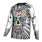 2021 New Spring/Autumn Sleeve Motocross Cycling Jersey Bicycle Shirt MTB Bike Downhill Breathable Clothing Road (L, White)