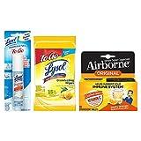 Lysol and Airborne On The Go Bundle - Airborne Orange...