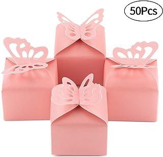 Kslong 50pcs Boutique Butterfly Candy Box