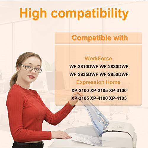 D&C 5 Negro cartuchos de tinta compatibles con Epson 603 XL para Epson WorkForce WF-2810 DWF WF-2830 DWF WF-2835 DWF WF-2850 DWF Epson Expression Home XP-2100 Series XP-2105 XP-3100 XP-3105 XP-4105