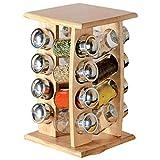 ORION GROUP Gewürzregal Gewürzhalter Organizer, Streuer-Set, 16 Stück Gewürzbehälter, Gewürzhalter für die Küche, drehbar