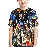 機動戦士ガンダム (5) Tシャツ ファッション 子供のtシャツ ゆったり 男の子 女の子 半袖 Tシャツ Boy T-Shirt 半袖シャツ 人気 柔らかい肌ざわり 3d アニメ プリント ティーシャツ 運動 Tシャツ 男女兼用 夏服