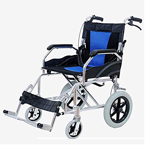 AOLI Wheelchair, Fold Light Portable Super Light Seniors/Disabled Light Portable Aluminum