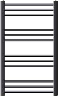 ECD Germany Sahara Radiador toallero - 600 x 800 mm - Antracita - curvado con conexión lateral - Radiador de toallas para baño agua calefaccion