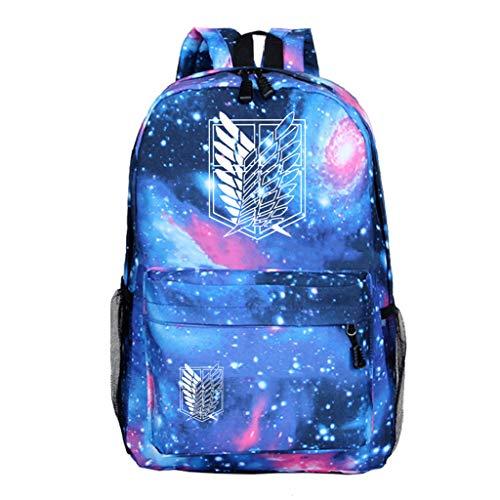 LOOVEE Mochila Anime Attack on Titan, Shingeki No Kyojin Scout Regiment Levi·Ackerman Anime Cosplay Mochila Escolar Moda Galaxia Estudiante Bolsa de Gran Capacidad Ordenador Portátil Backpack (2)