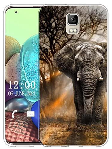 Sunrive Kompatibel mit UMI Rome/Rome X Hülle Silikon, Transparent Handyhülle Schutzhülle Etui Hülle (X Elefant)+Gratis Universal Eingabestift MEHRWEG