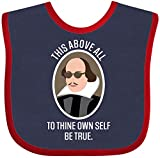 Inktastic to Thine Own Self Be True Shakespeare Baby Bib Navy and Red