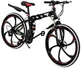 26 inch Mountain Bike Folding Bikes with Disc Brake Shimanos 21 Speed Bicycle