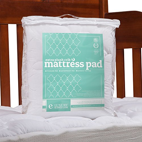 ExceptionalSheets eLuxurySupply Toddler/Crib Mattress Pad - Perfect for Small Child/Infant, Bamboo