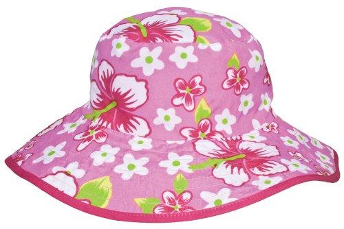 Baby Banz Chapeau de Soleil Réversible 0-2 ans - Rose Hawaii