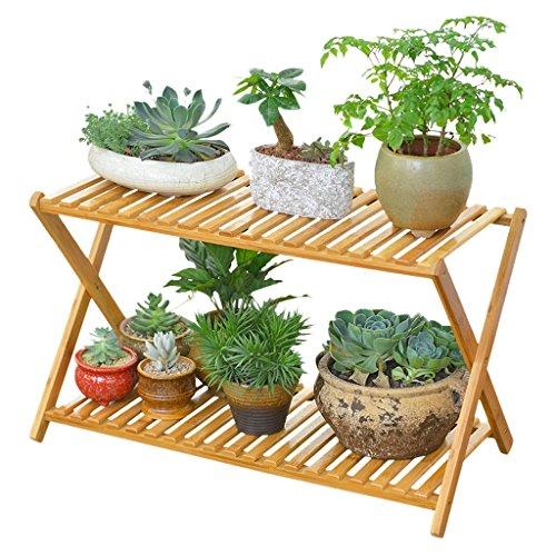FL- Fleur de bois solide stand type de plancher multifonction croix type salon intérieur balcon extérieur fleur pot étagère