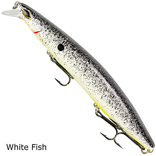Seika Pro Wobbler Nightveit 27g, Farbe:White Fish