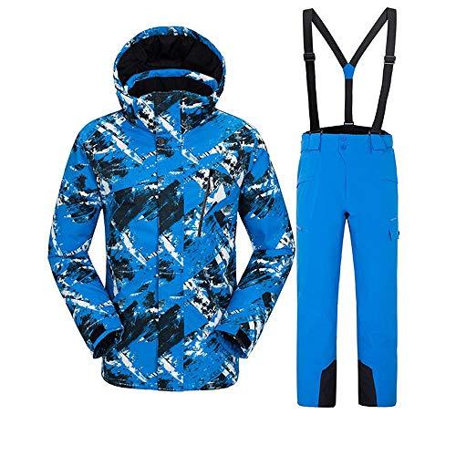 SunFlower6666 Männer Skijacke-Hosen 2018 stellten hohe windundurchlässige wasserdichte professionelle Bunte Snowboard-Anzüge EIN (Blue, Medium)