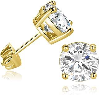 أقراط تشيكوسلوفاكيا مسمار مطلية بالذهب للنساء الرجال مجوهرات الأزياء لا تسبب الحساسية