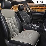 Black Panther 1PC Luxus Sitzauflagen Auto mit Rückenlehne Autozubehör Geeignet für Vier Jahreszeiten(Grau)