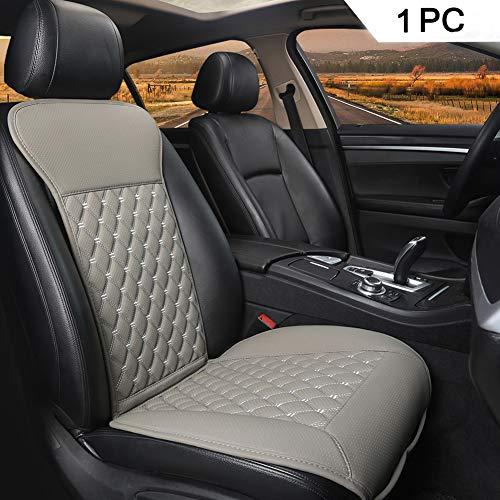 Black Panther 1PC Sitzauflagen Auto mit Rückenlehne Autozubehör Geeignet für Vier Jahreszeiten(Grau)