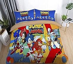 Kid Duvet Cover Queen Sonic Bedding 3 Piece Duvet Covers for Children/Adult