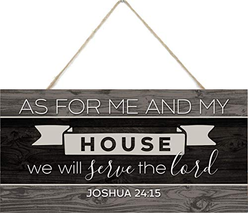 MRC Wood Products As for Me and My House We Will Serve The Lord Wooden Plank Sign 5x10