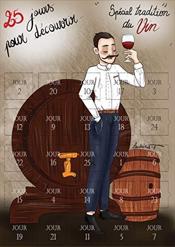 Adventskalender voor 25 dagen – alle kennis over de wijn, opvallende kalender voor dames en heren – de geheimen van de wijn in afbeeldingen