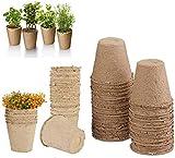 Piccolo Fibra biodegradabili vasi di Semi per piantine,Set da Vasetti per Piantine,Vaschet...