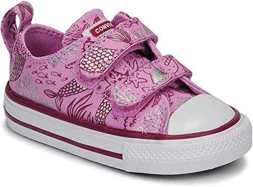 Converse Chuck Taylor All Star 2v Kids - Ox - Peony Pink/Rose Maroon/Weiß Segeltuch