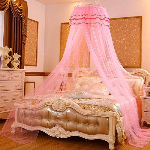 Romantische hängende Haube Moskitonetz Circular Himmelbetten for Kinder Tragbare Bedding Zelt Net Faltverdeck   Moskitonetz, Rosa, 1,2 m (4 Fuß) Bett yqaae ( Color : Pink , Size : 1.5m (5 feet) bed )