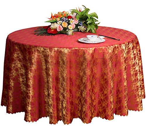 Black Temptation Esstisch Hochzeiten Bankette Hotels Tischtennisplatten Rundtischtücher 220 * 220CM (rot)