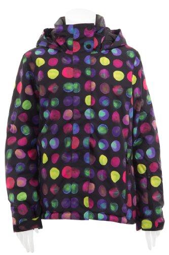 Roxy Mädchen Snowboard Jacke Jetty, blk raving dots, 164 / 14 Jahre, WPTSJ053-60-164 / 14 Jahre