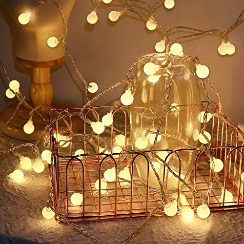Korey Lichterkette Glühbirnen, 120LED 15m Garten Lichterkette Außen für Garten, Bäume, Terrasse, Weihnachten, Hochzeiten, Partys, Innen und außen (Warmweiß)