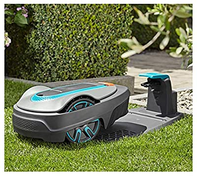AHELT-J Robotic Lawn Mower Up to 250m² / 500m² / 750m² Lawn, Gradients Up to 25%, Cutting Height 20-50mm, LCD Display, Theft Protection, Including Boundary Wire, Hook and Connector (15002-20),500m²