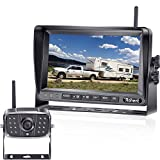 Rohent FHD1080P Digital Wireless Rear View Camera Kit Driving High-Speed Observation System 7 Inch Monitor Two Video Channels Split Screen for RVs,Trucks,Trailers IP69K Waterproof Night Vision -R7