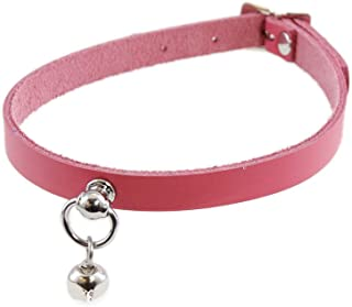 Mini Kitty Bell Collar Leather Choker
