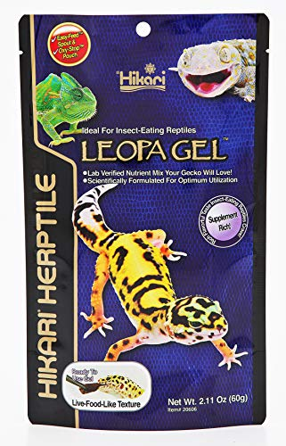 HIKARI Herptile Leopa Gel Reptile Food Complete Diet for Insect Eating Lizards, Live Feed Replacement for Geckos, Leopard Geckos