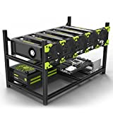 Aluminum 6 GPU Mining Case Rig Open Air Frame for ETH/ETC/ZCash