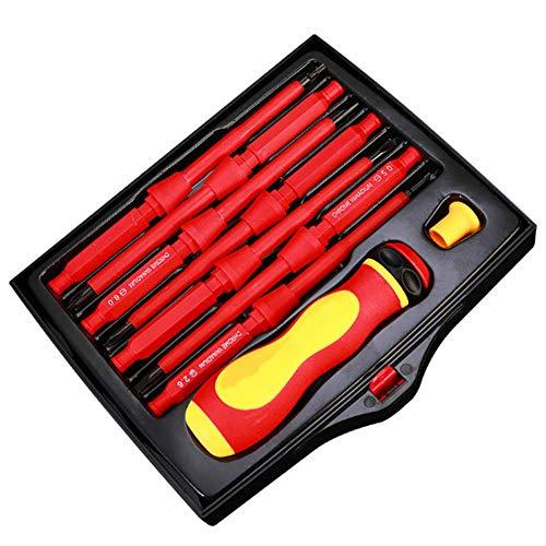 SSeir Destornilladores Combinados, 8-en-1 aislada y Manilla Multi-Head Manual Destornillador,A