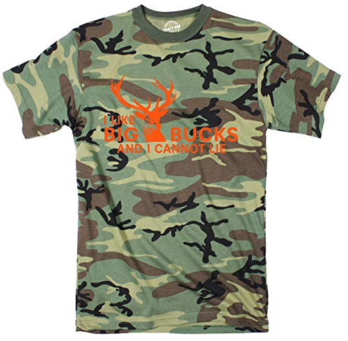 I Like Big Bucks and I Cannot Lie Youth Camo Tshirt Funny...