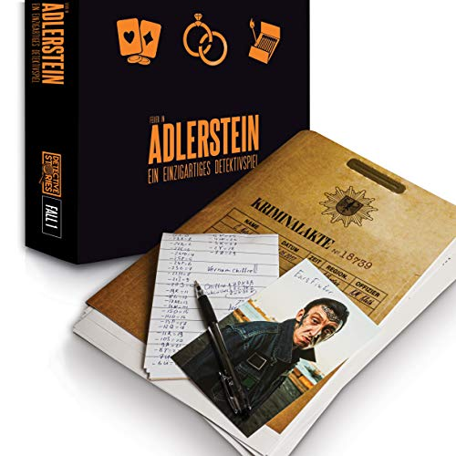 iDventure Detective Stories - Fall 1: Das Feuer in Adlerstein - Spannendes Escape Room Spiel [1–6+ Spieler] - Detektiv Krimi Spiel für Erwachsene - Rätselspiele für Kinder ab 14 Jahren