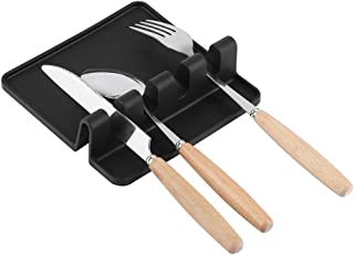Ensemble de repose-cuillère en silicone de qualité alimentaire, support de repos pour ustensiles de cuillère et spatule po...