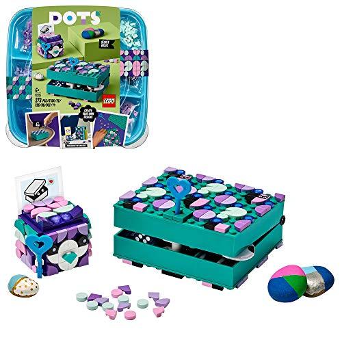 LEGO 41925 DOTS Geheimbox mit Schlüsselhalter, Raumaccessoires & Dekoideen, Bastelset für Kinder