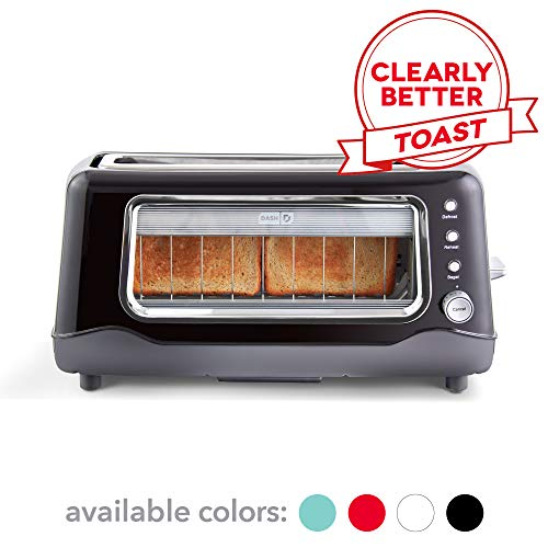 Dash Clear View Toaster: Extra Wide Slot Toaster with Stainless Steel Accents + See...