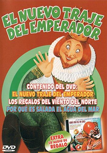 El Traje Nuevo del Emperador, Los Regalos del Viento del Norte, Por qué es salada el Agua del Mar + CD Regalo: Había Una Vez Un Circo [DVD]