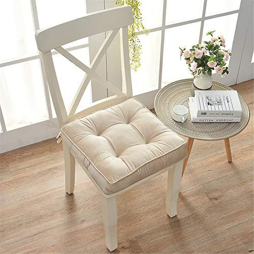 Nicole Knupfer - Cojín para silla, para interior y exterior, para silla de jardín, salón, 43 x 43 x 8 cm, Metro.